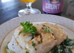 Hake with lemon and butter sauce recipe